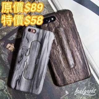 黑色 深玄木紋 手機殻 iPhone6/7p