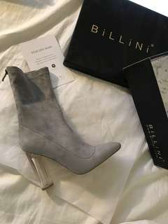 "Billini ""Evita"" Light Grey Suede Heels"
