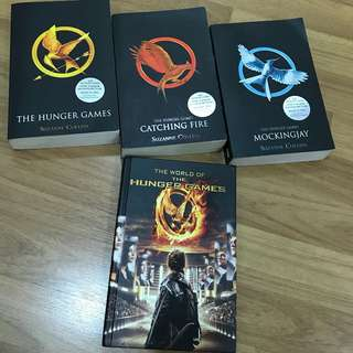 The Hunger Games Trilogy + The World of The Hunger Games by Suzanne Collins