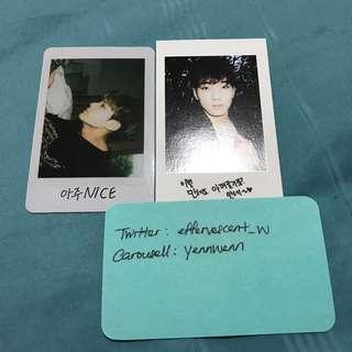Seventeen Mingyu Aju Nice, Wonwoo BoysBe Official Photocard