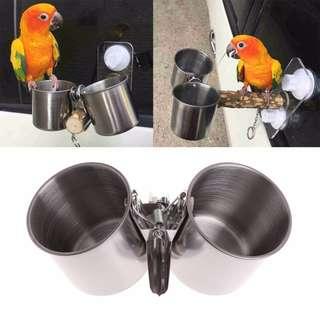 Clip food cup for parrots