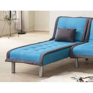 !新生活家具!藍色 躺椅降價! 特價!《奶油滾邊》北歐風 亞麻布 全拆洗 送布套 貴妃 單人座 二色可選 防水耐磨