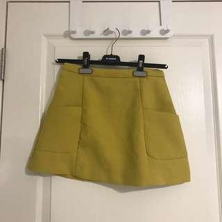ZALORA Yellow skirt
