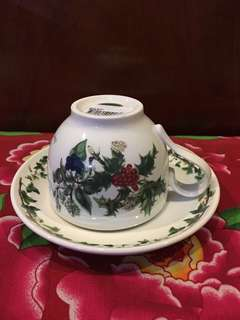 Portmeirion Holly and Ivy Teacup and Saucer