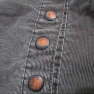 Brown buttoned skirts