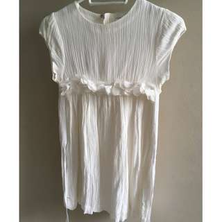 Gently used Chateau de Sable dress (white / 8 years old)