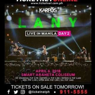 LOOKING FOR 2 LANY DAY 2 LOWER BOX TIX