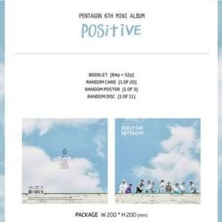 [PRE ORDER] PENTAGON 6th MINI ALBUM - POSITIVE