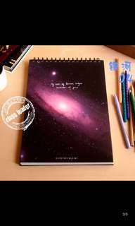 Galaxy Milky Way Blank Sketchbook Notebook Notepad