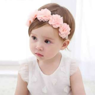 Baby Girl/Toddler Flower Crown Headband