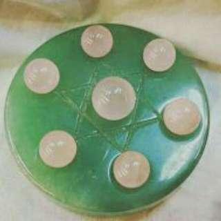 粉晶七星盤