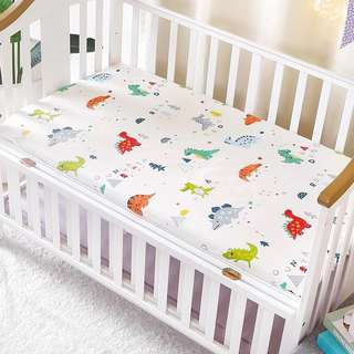 Baby Infant Cot Crib Fitted Bedsheet Mattress Cover Newborn Blanket Muslim Organizer