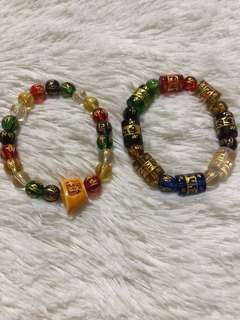 Mantra charm bracelets