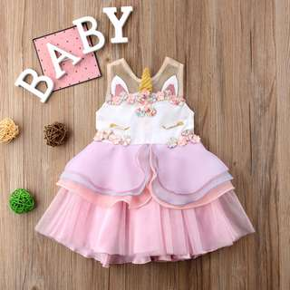 Baby Girl Beautiful Mystical Unicorn Dress