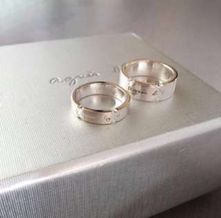 "(NEW) Agnes b ""Lover"" Silver Ring 情侶純銀戒子"