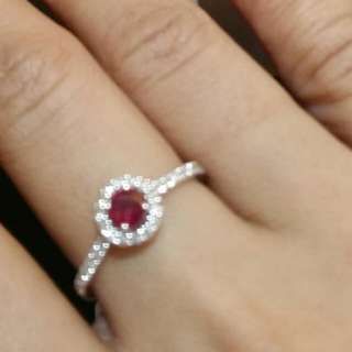 Ruby ring with diamond