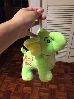 Soft plushy elephant