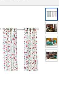 Ikea Hemmafest Curtains, 1 Pair (2 Pcs), Assorted Patterns (145x300cm)