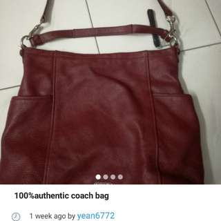 * Reduced *100%authentic coach bag