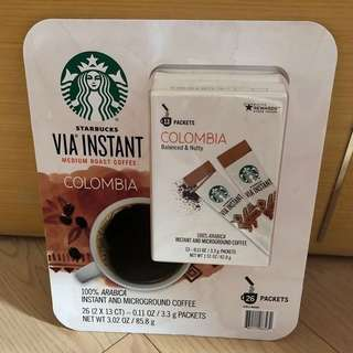 Starbucks via Colombia coffee (26 Packets)