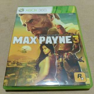 MAX PAYNE 3 video game disc