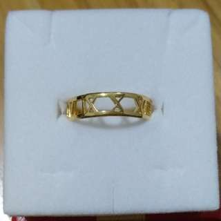 916 22K Roman Number Gold Ring