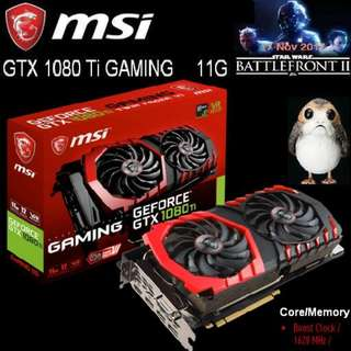 MSI GTX 1080 Ti GAMING 11G GeForce..