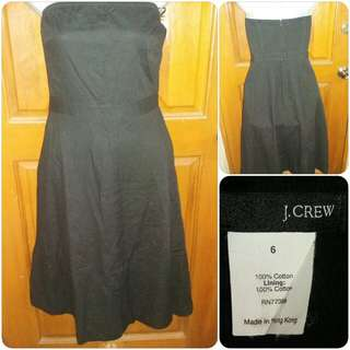 J.Crew Tube Top Black A-Lined Dress