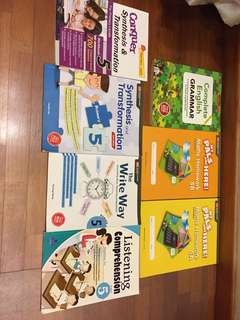Primary 5 math and English school/assessment books