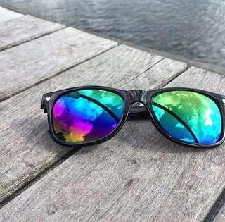 ❗️全新 美國太陽眼鏡 Leonard - black / colour mirror