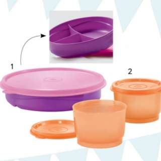 Tupperware Twinkle Feeding Set (3)