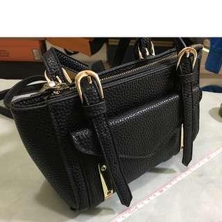 黑色小手袋 側孭袋