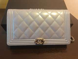 Chanel wallet on chain WOC 2018 春季 幻彩粉藍