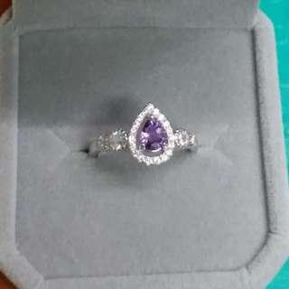 925銀鑲紫色藍寶石戒指