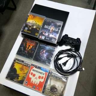 PS3主機+7片遊戲