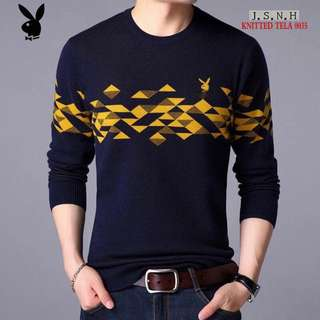 NEW PLAYBOY MEN'S SWEATER ( S TO LARGE CAN FIT PREORDER)