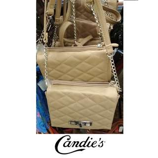 CANDIE'S Quilted PU Crossbosy Shoulder Sling Bag