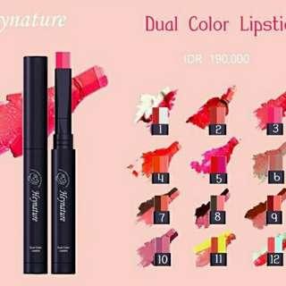 Lipstick Dual Color / Lipstick Heynature / Lipstick Korea /No.3 Elegant Zinnia