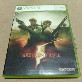 RESIDENT EVIL 5 video game disc