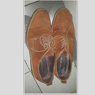 Sepatu pantofel suede made in italy