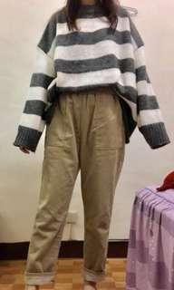 🚚 整套好搭配 羊毛毛衣+燈絨蕊直筒褲