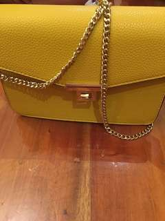 BRAND NEW: Mustard Shoulder Bag from Mango
