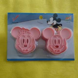 Cutter Plunger Mickey Minnie Mouse Cetakan Kue Kering