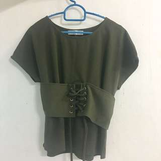 Army Green Top