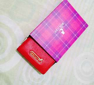 Red women's wallet