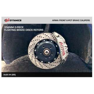 CJ DYNAMICS 356MM BRAKE DISCS ROTORS FOR ARMA BRAKE CALIPERS