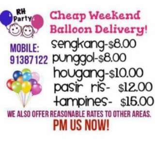 (27/3) Weekend Balloon Delivery