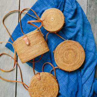 Bucket & Round Rattan Bags