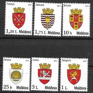 摩爾多瓦2017城徽6全新