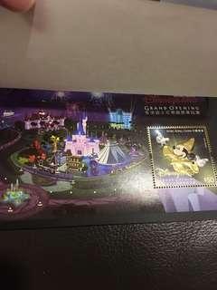 絕版 香港迪士尼樂園 22k金開幕郵票